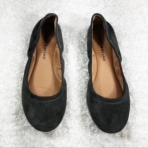 Lucky Brand Gray Suede Flats